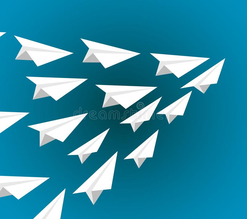 le livre blanc surface le vol sur une formation de modèle illustration de vecteur
