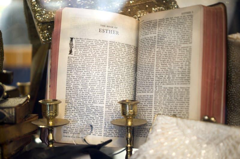 Le livre d'Esther photo libre de droits
