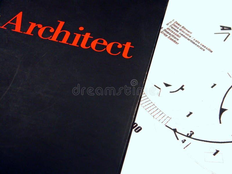 Le livre de l'architecte image libre de droits