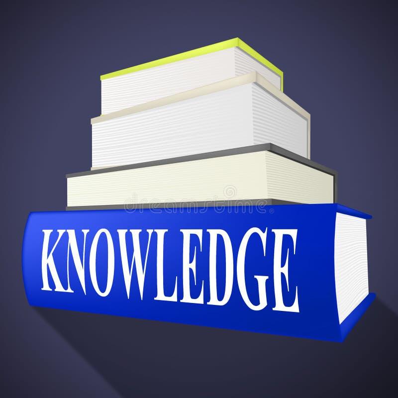 Le livre de la connaissance signifie la compréhension et les livres de manuel illustration libre de droits
