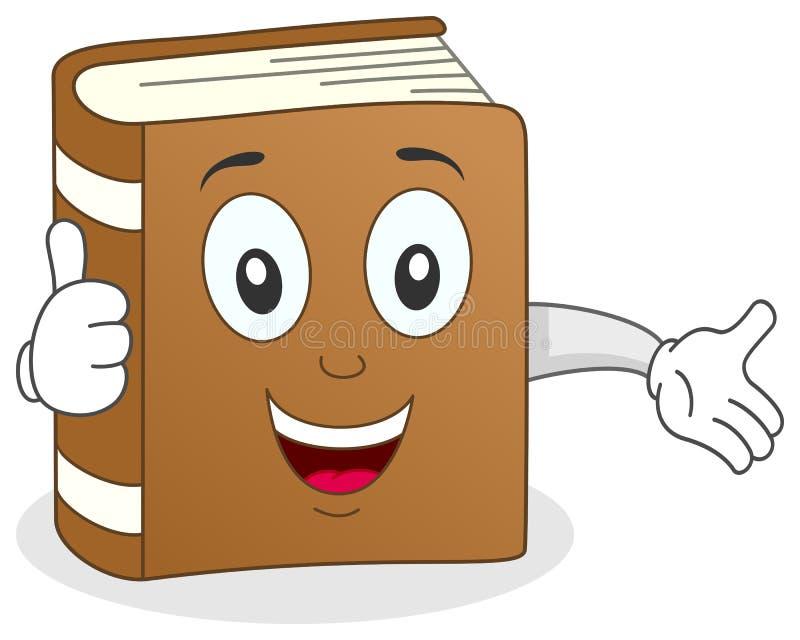 Le livre drôle manie maladroitement vers le haut du caractère illustration de vecteur