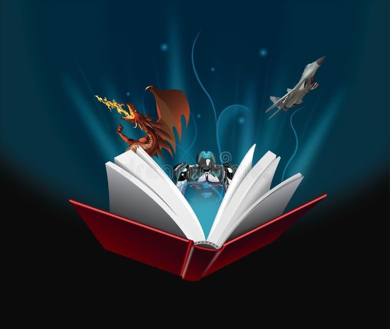 Le livre est magique illustration libre de droits