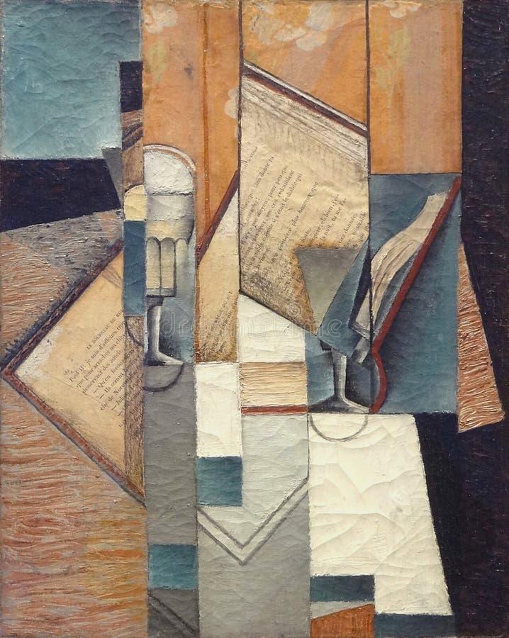 ' Le livre' , Juan Gris, 1913 Musée d' Arte de moderno la ville de Paris, palais de Tóquio imagens de stock royalty free