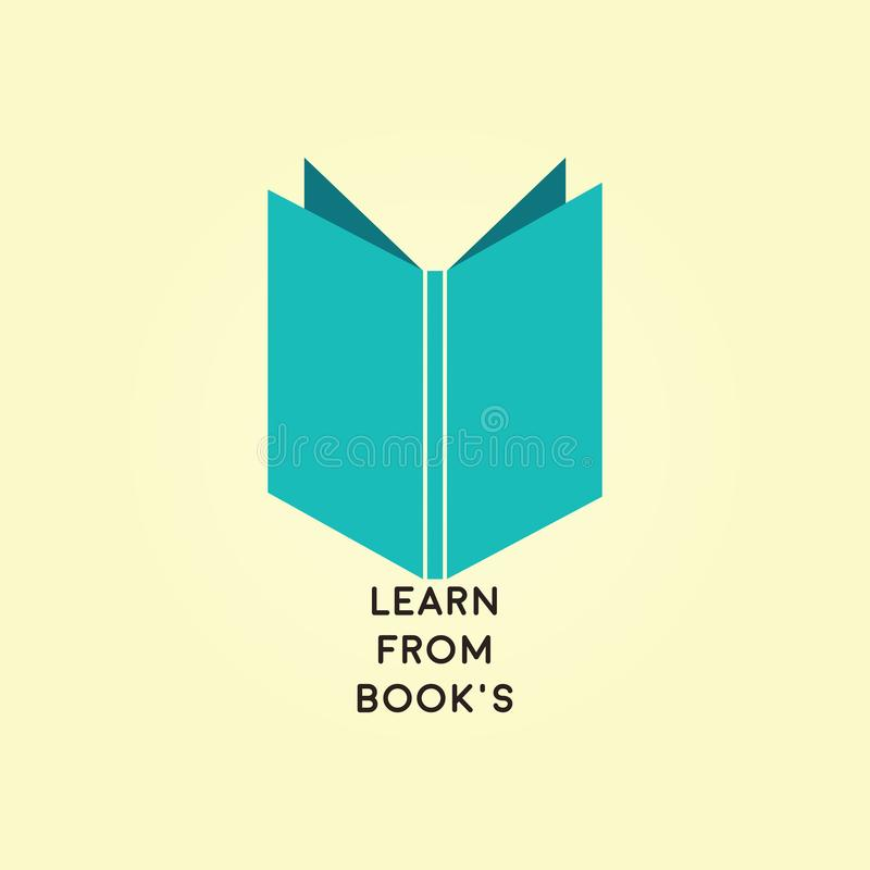 Le livre pour le logo d'académie illustration stock