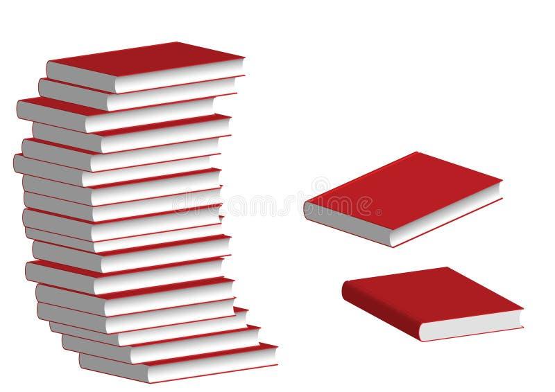 Le livre rouge illustration de vecteur