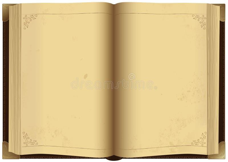 le livre vieux s'ouvrent illustration stock