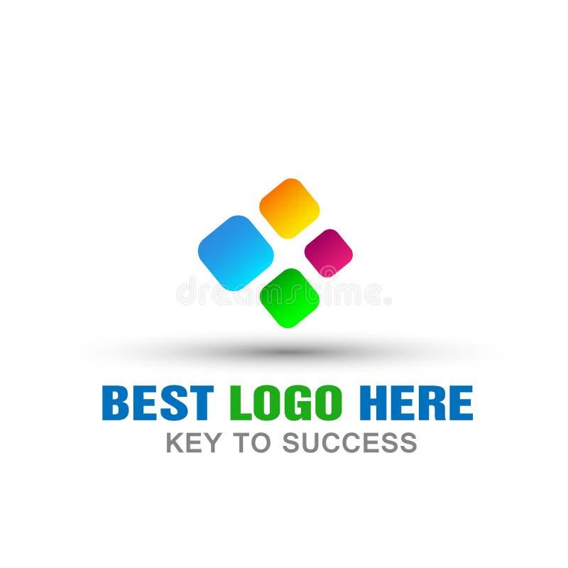 Le logo abstrait d'affaires de logo de vecteur pour la société, succès sur d'entreprise investissent la conception colorée d'icôn illustration stock