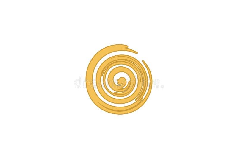 Le logo abstrait de remous conçoit l'inspiration d'isolement sur le fond blanc illustration de vecteur