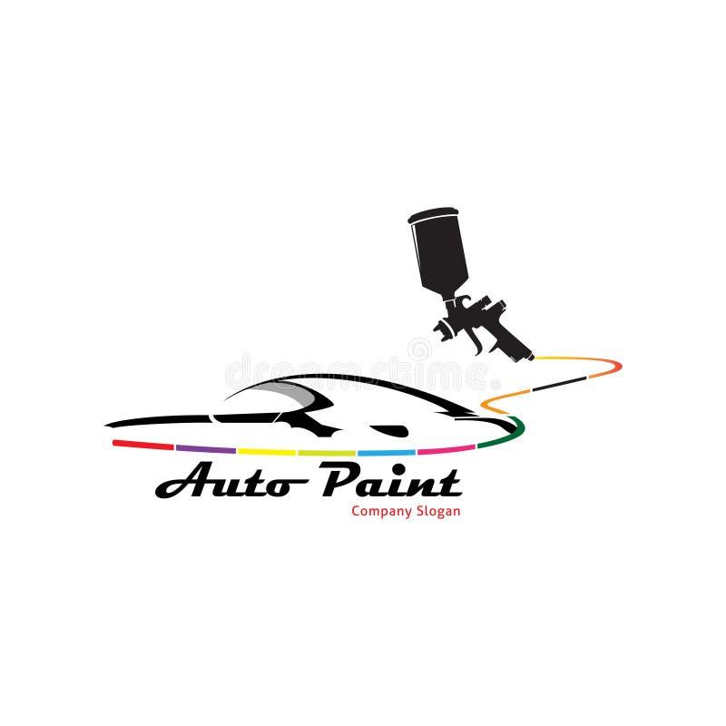 Le logo automatique de point pour peignent la voiture illustration stock