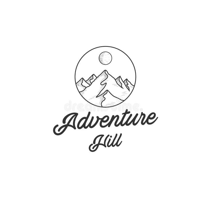 Le logo d'aventure conçoit des inspirations avec le Mountain View illustration de vecteur
