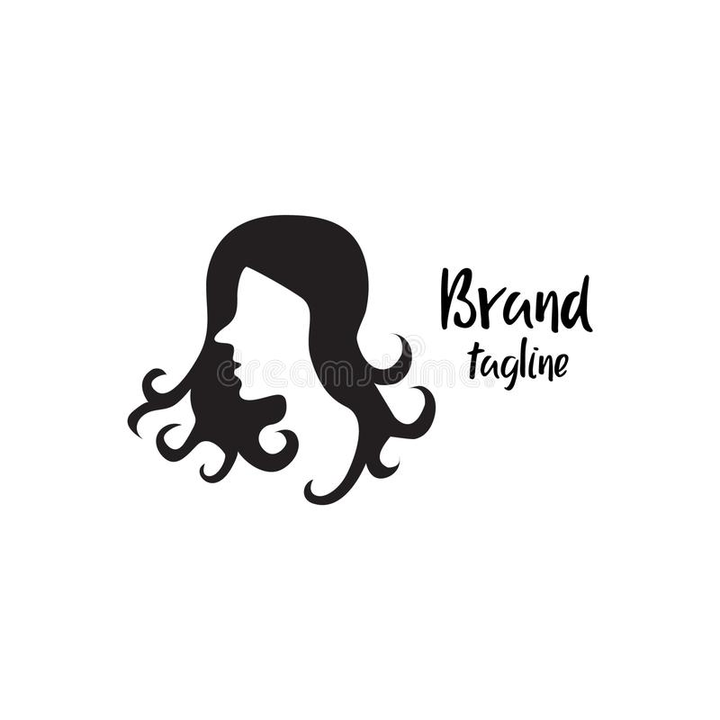 Le logo d'un salon de beauté simple et attrayant illustration de vecteur