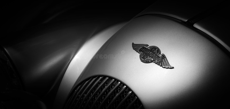 Le logo d'une voiture de sport classique image stock