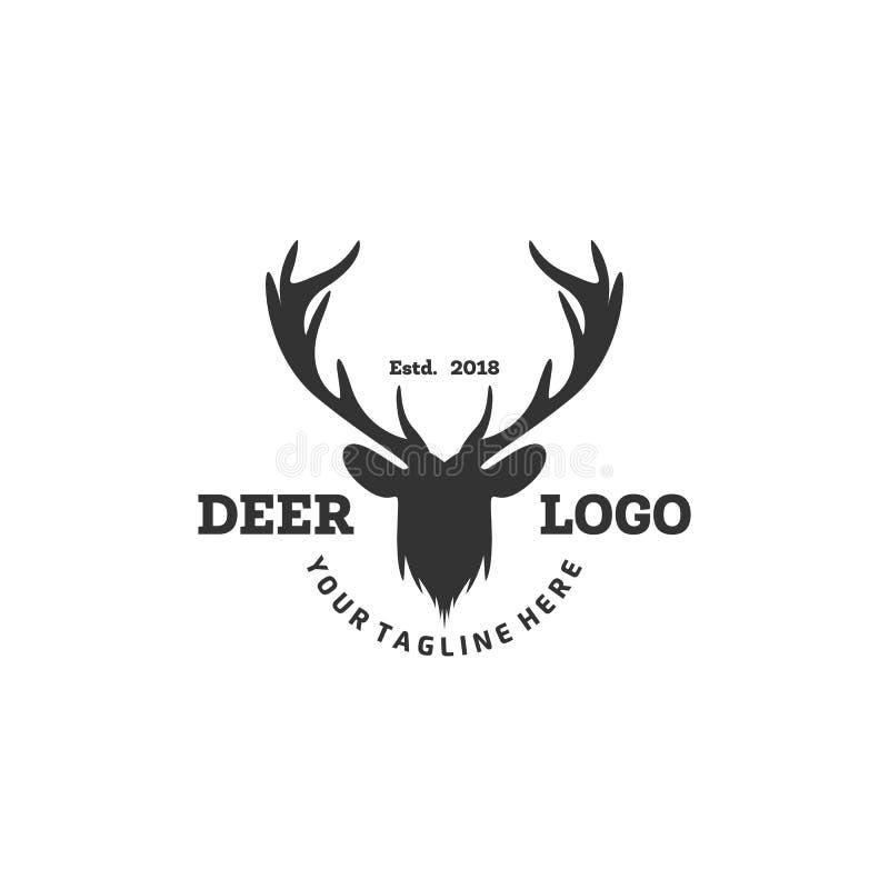 Le logo de cerfs communs conçoit des inspirations, logo de club de chasse illustration libre de droits