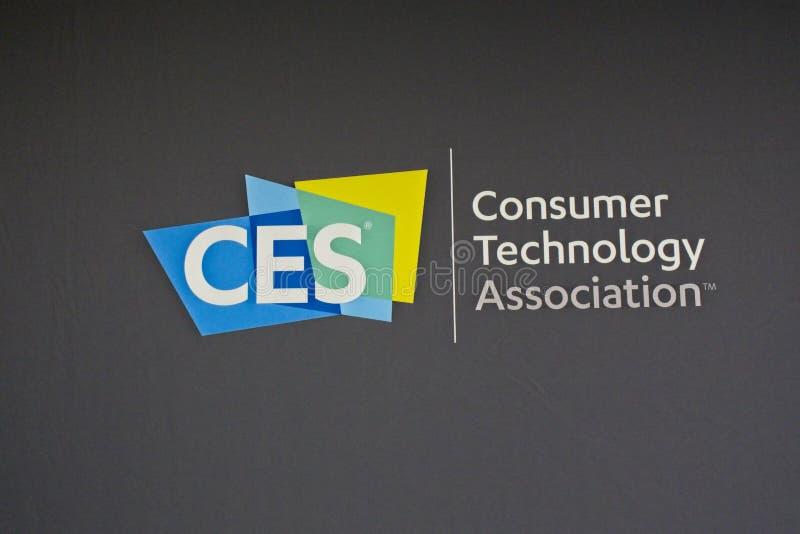 Le logo de 2019 CES identifie le plus grand salon commercial du monde photos libres de droits