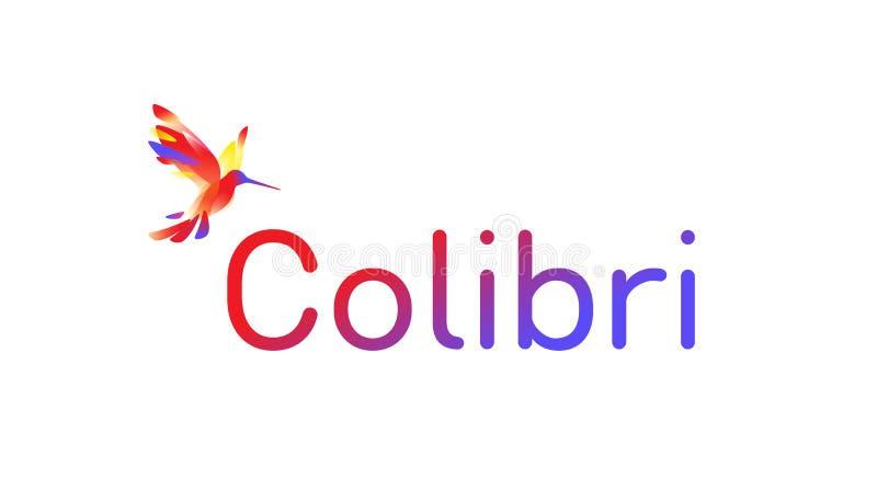 Le logo de Colibri Illustration de vecteur Logo Isolated On White Background Gradient rose Bunny Hummingbird Logo pour la société illustration de vecteur