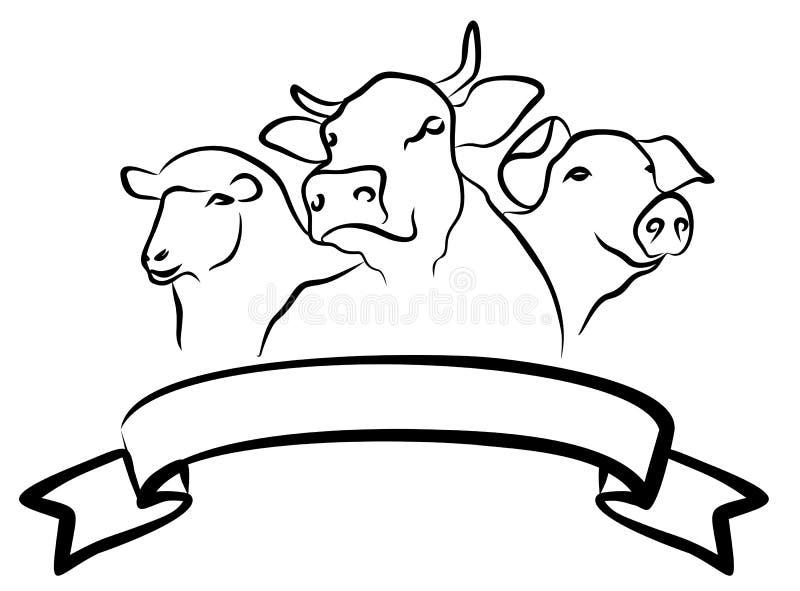 Le logo de ferme illustration libre de droits