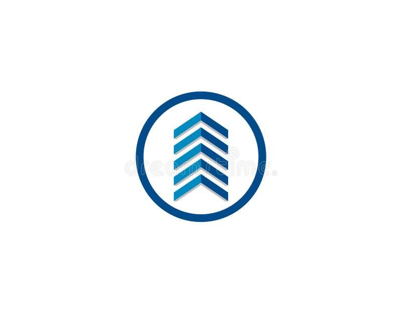 Le logo de Real Estate, de propriété et de construction conçoivent pour le signe d'entreprise d'affaires illustration stock