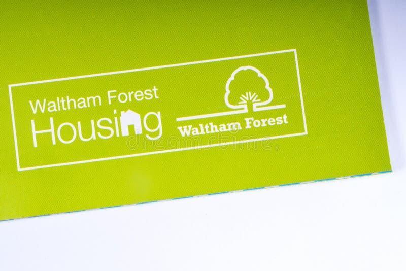 Le logo de Waltham Forest Housing photographie stock