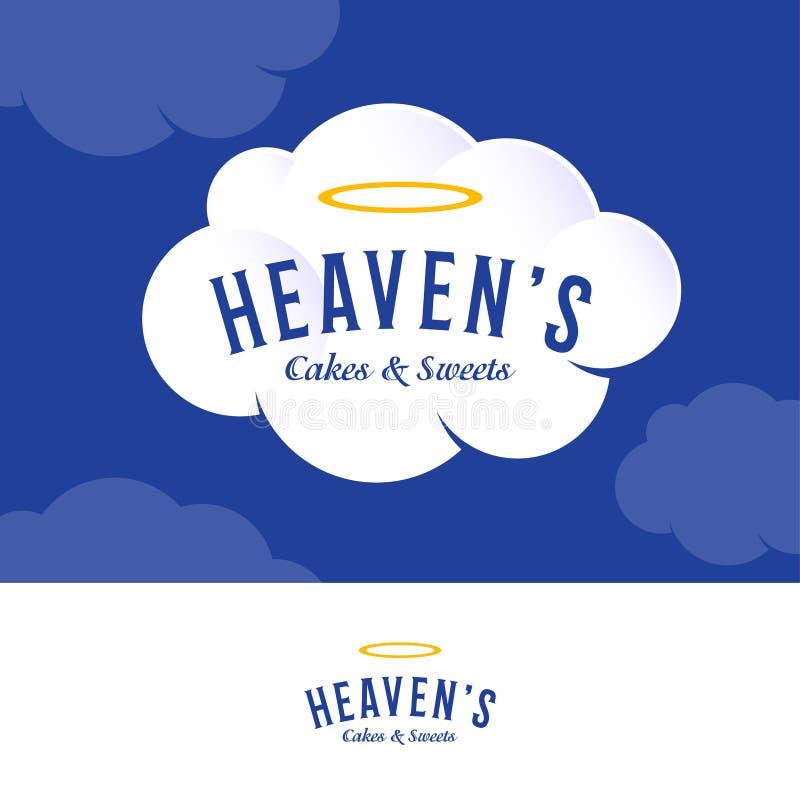 Le logo du ciel Logo de boulangerie et de pâtisserie sur le nuage crème blanc illustration libre de droits