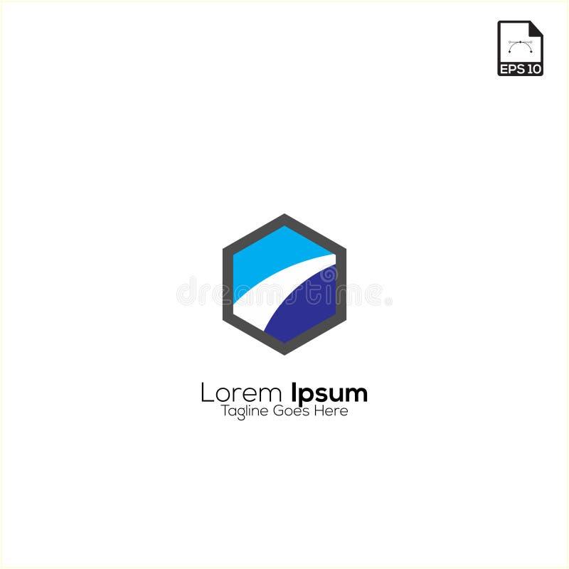 le logo et les symboles de finances dirigent l'illustration simple de concept illustration stock
