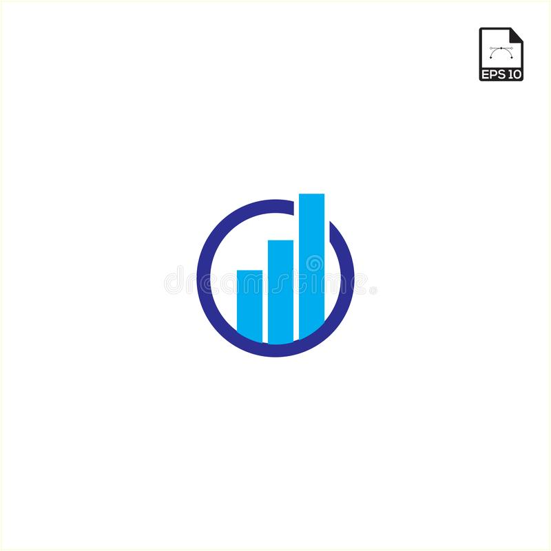 le logo et les symboles de finances dirigent l'illustration simple de concept illustration de vecteur