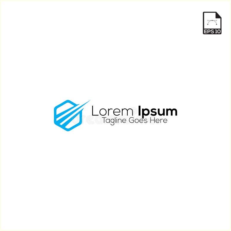 le logo et les symboles de finances dirigent l'illustration simple de concept illustration libre de droits