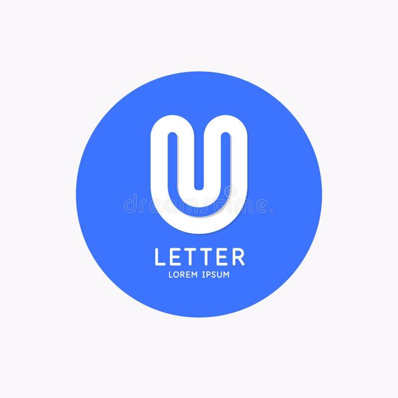 Le logo lin?aire moderne et signent la lettre U illustration libre de droits