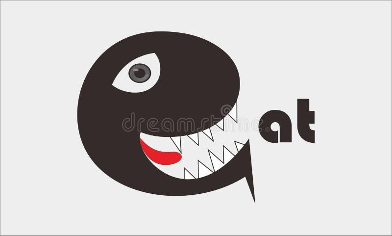 Le logo mangent image stock
