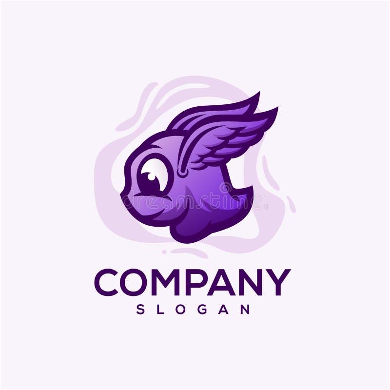 Le logo mignon de monstre a lu pour employer illustration stock