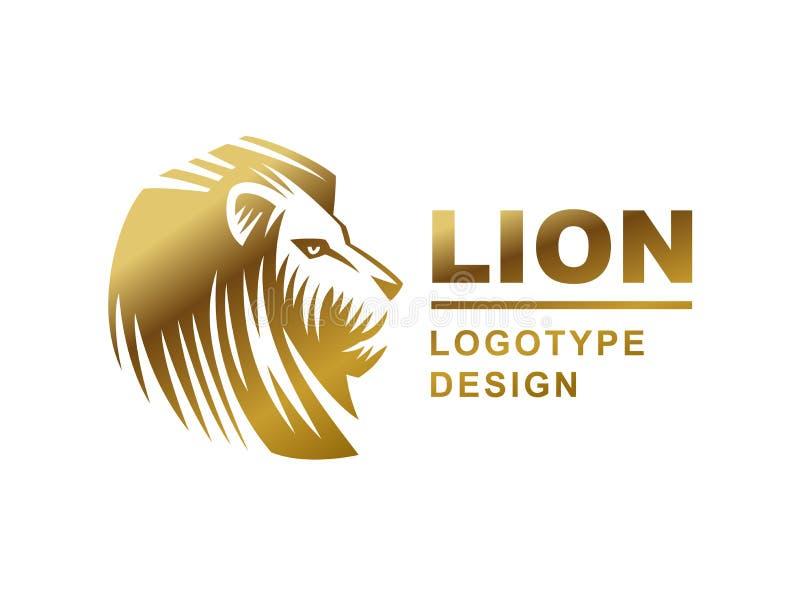 Le logo principal de lion - dirigez l'illustration, conception d'emblème illustration libre de droits