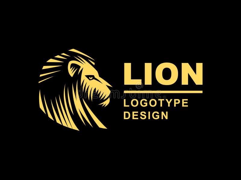 Le logo principal de lion - dirigez l'illustration, conception d'emblème illustration stock