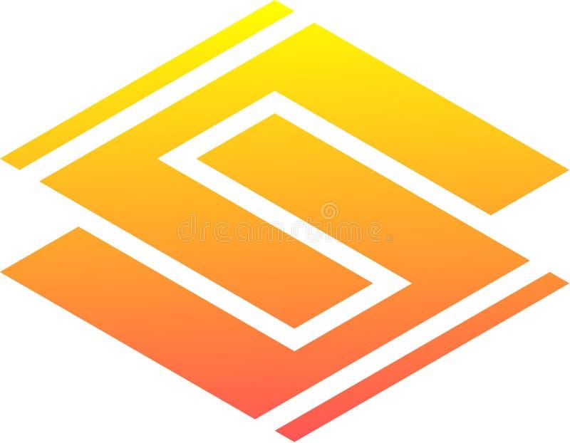 Le logo 2 uniques et frais de s illustration libre de droits