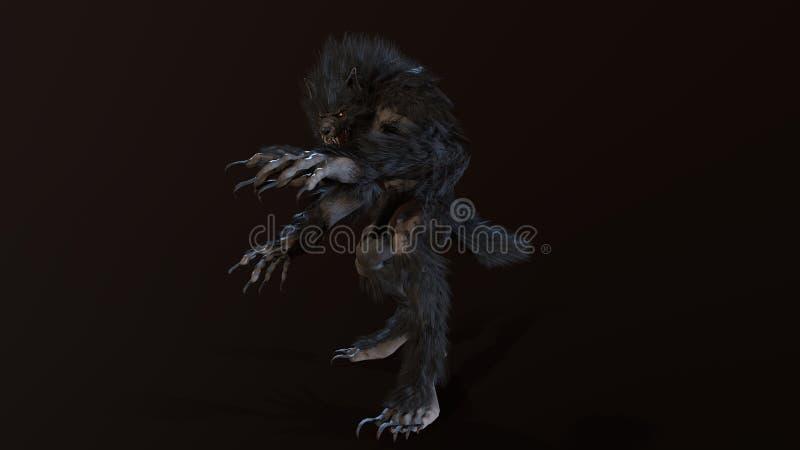 Le loup-garou 3d rendent photo stock