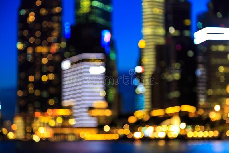 Download Le Luci Circolari Astratte Hanno Offuscato Il Fondo Del Bokeh Immagine Stock - Immagine di downtown, sfuocatura: 55361601
