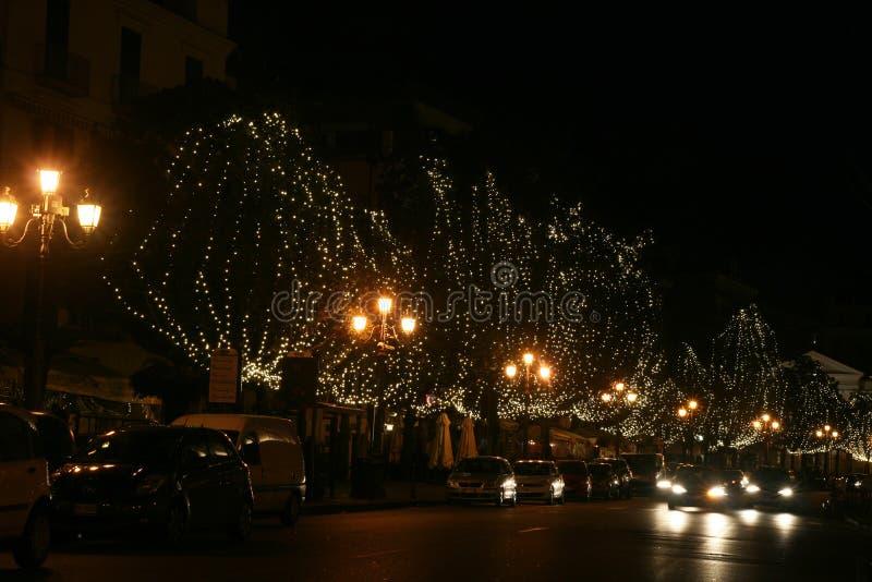 Le luci del salerno fotografia stock libera da diritti