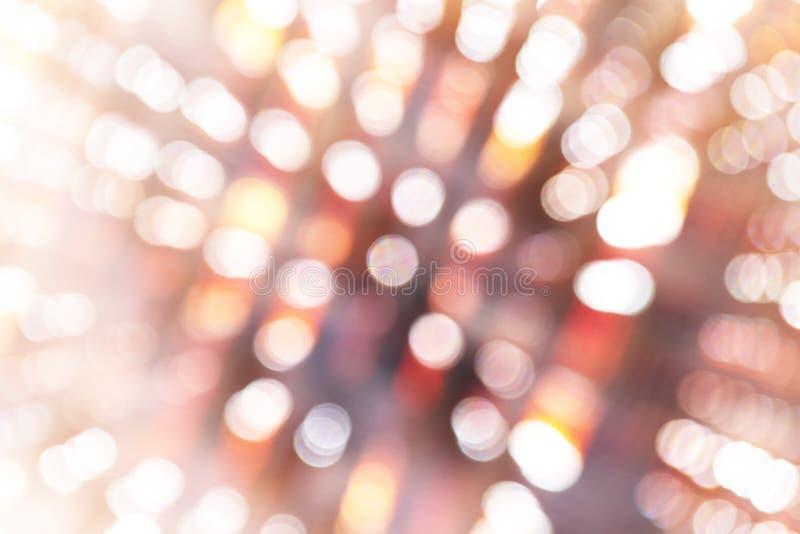 Le luci di Bokeh e l'ombra defocused, effetti fanno saltare la zumata immagini stock libere da diritti