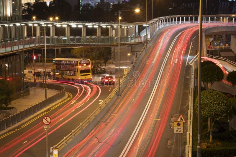 Le luci di intensità di traffico sulla strada fotografia stock libera da diritti