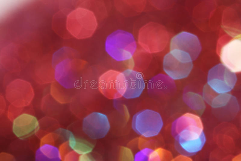 Le luci morbide rosse, rosa, bianche, gialle e del turchese sottraggono il fondo - colori scuri fotografie stock