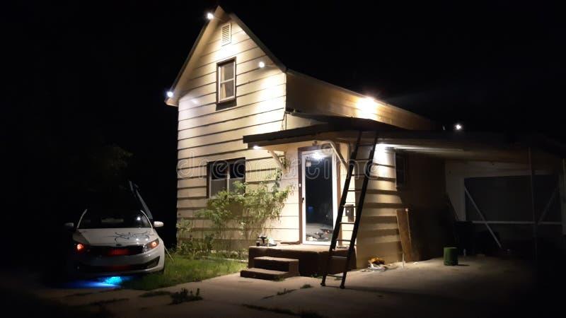 Le luci notturne per casa fotografie stock libere da diritti