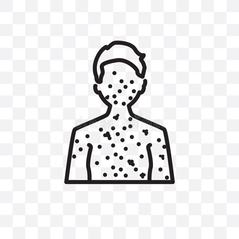Le lupus erythematosus dirigent l'icône linéaire d'isolement sur le fond transparent, concept de transparent de lupus erythematos illustration de vecteur
