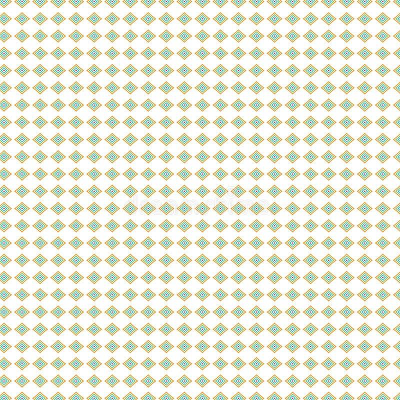 Le luxe coloré abstrait couvre de tuiles le fond de Diamond Rhombus Native Ethnic Pattern illustration libre de droits