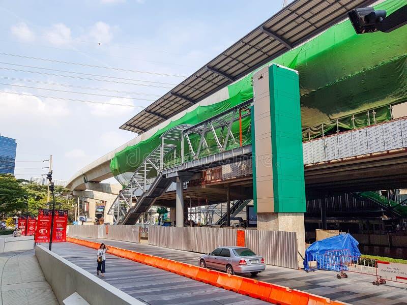 Le méga projet de station de train en construction photographie stock