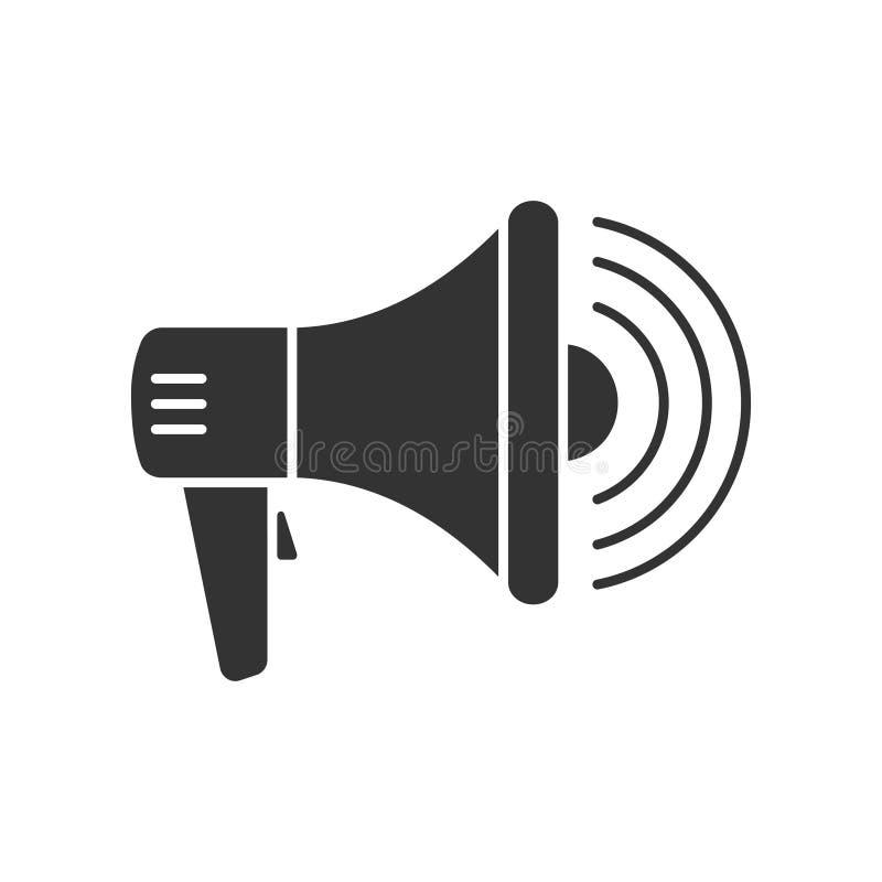 Le mégaphone avec des vagues de voix signent illustration libre de droits