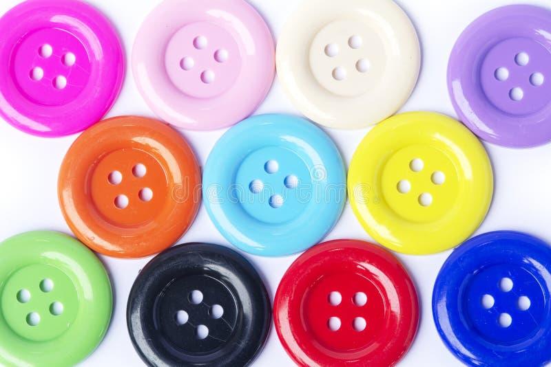 Le mélange de vue supérieure colore de grands boutons image libre de droits