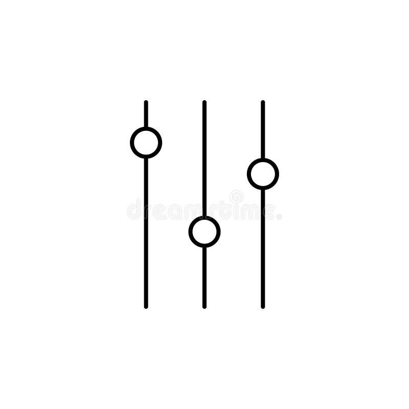 le mélangeur commute l'icône Élément d'icône simple pour des sites Web, web design, APP mobile, graphiques d'infos Ligne mince ic illustration libre de droits