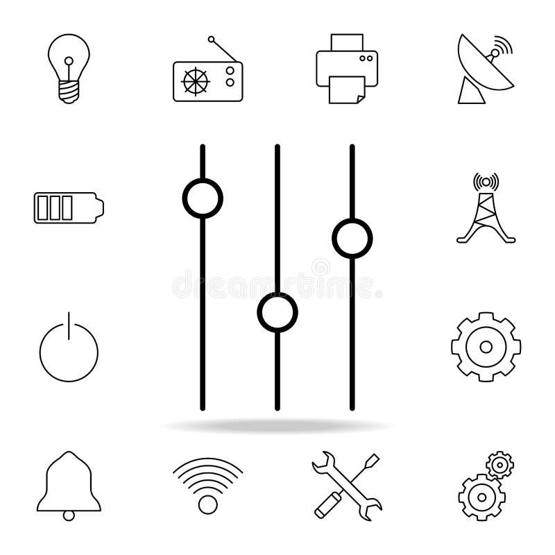 le mélangeur commute l'icône Ensemble détaillé d'icônes simples Conception graphique de la meilleure qualité Une des icônes de co illustration de vecteur