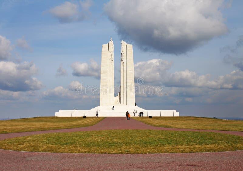Le mémorial canadien de guerre de Vimy Ridge en France photographie stock