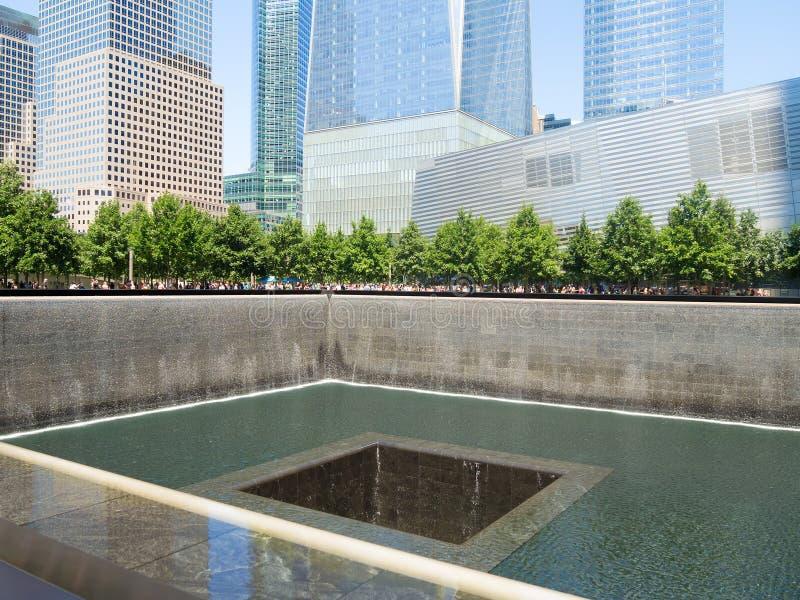 Le mémorial de 9/11 à New York City photographie stock libre de droits