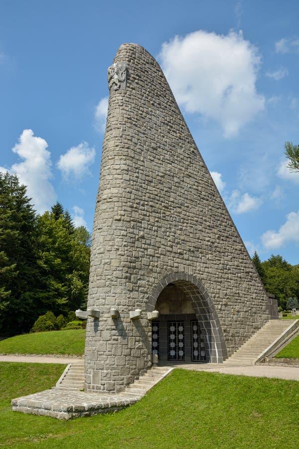 Le mémorial de l'armée tchèque dans le passage de Dukla photos stock
