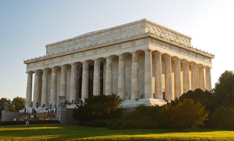 Le mémorial de Lincoln dans le C.C photo libre de droits